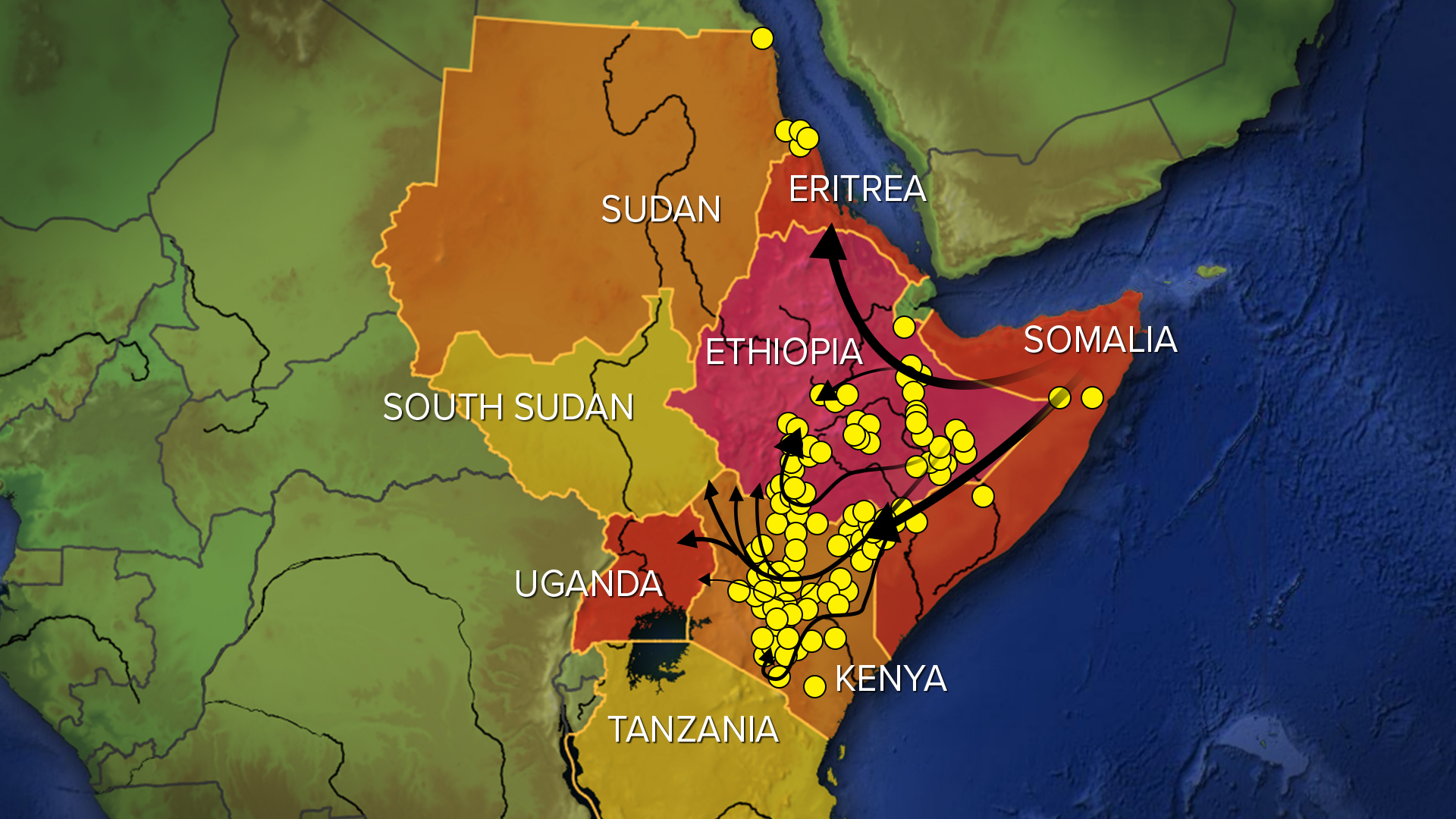 Como una página fuera de la Biblia: Enjambres de langostas 'tan grandes como las grandes ciudades' asaltan África, amenazando a millones de vidas - fsg 021220 locust swarms.psd