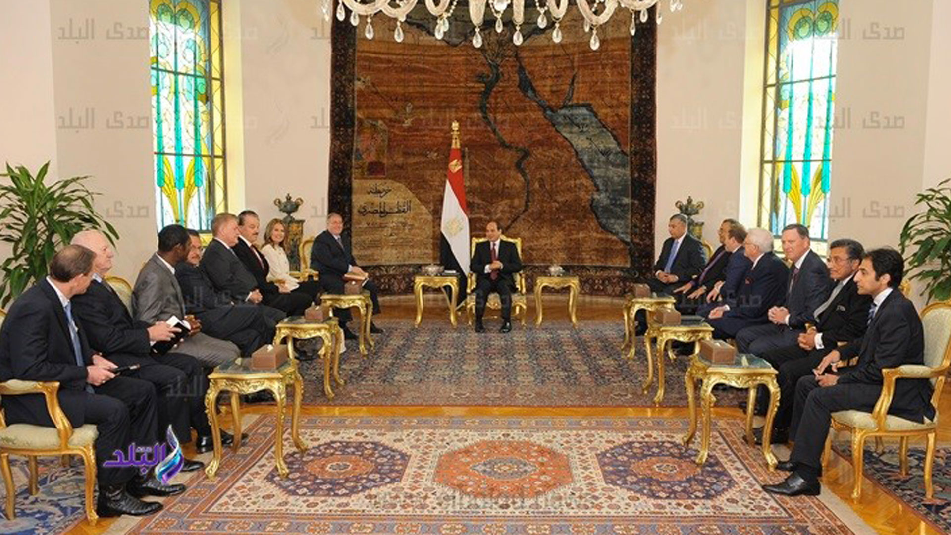 Egypt's president says he supports 2-term limit