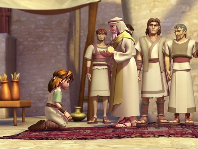 Samuel anoints David - Superbook Bible Story