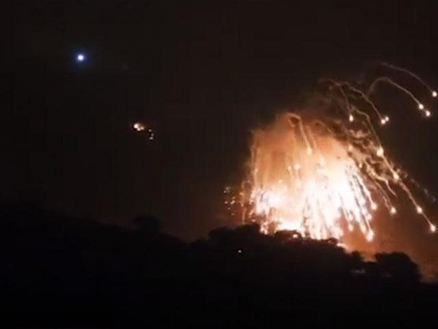 AP video screenshot: Explosion in Houla, South Lebanon as the IDF attacks Hezbollah targets.