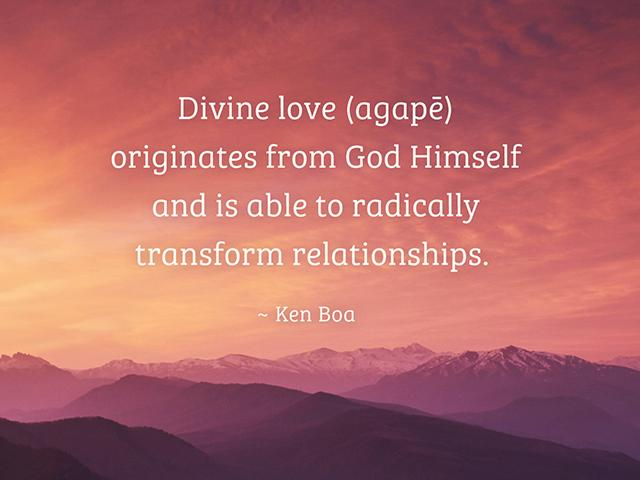 agape love is transformational love