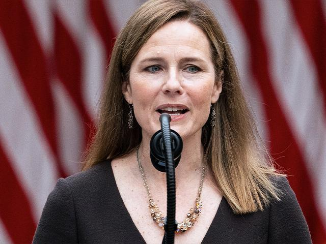 Judge Amy Coney Barrett speaks after President Donald Trump announced her as his nominee to the Supreme Court, Sept. 26, 2020, in Washington. (AP Photo/Alex Brandon)