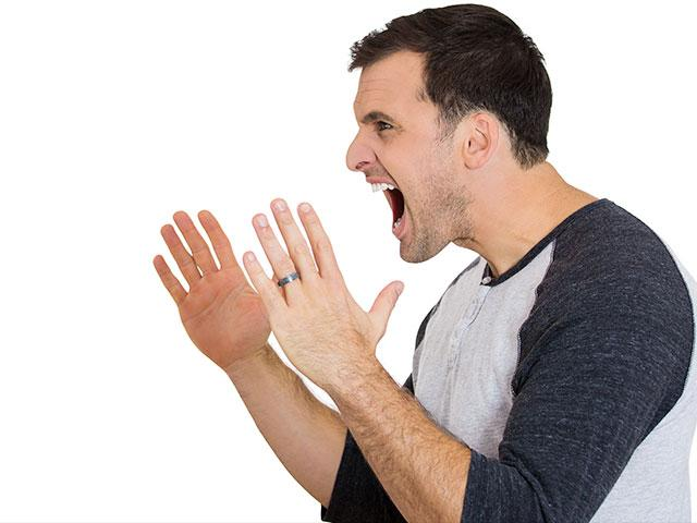Angry husband