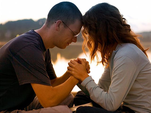 Parents praying together