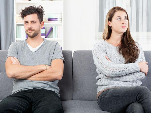 Couple with relationship problems