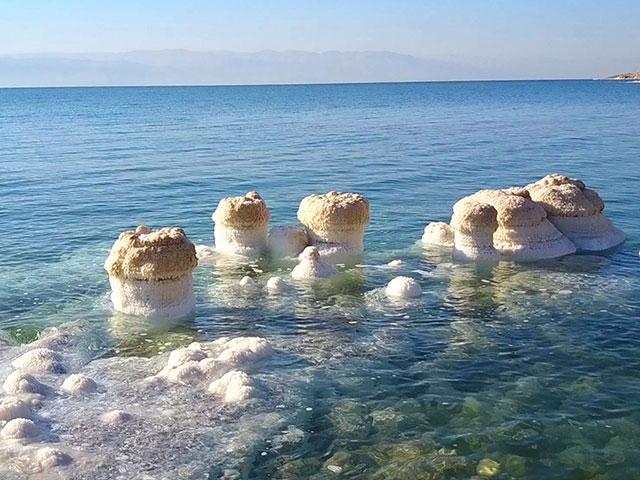 Dead Sea's Salty Chimneys, Photo, CBN News, Jonathan Goff