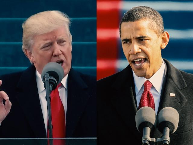 Donald Trump Barack Obama Inauguration