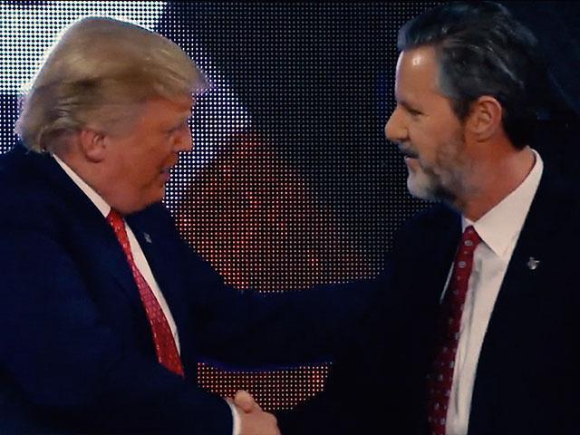 President Donald Trump and Liberty University President Jerry Falwell, Jr.