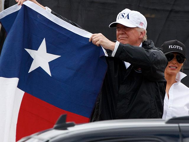 Donald Trump Texas Flag AP