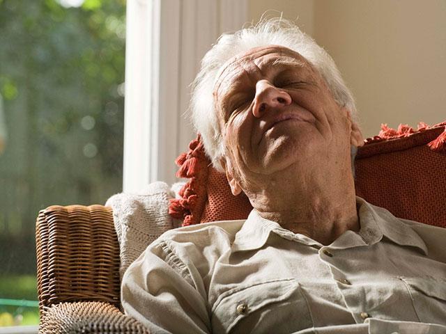 elderly-man-napping