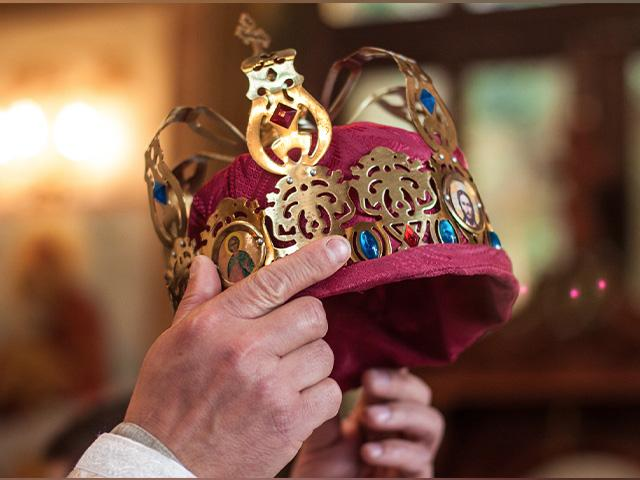 a golden crown with jewels