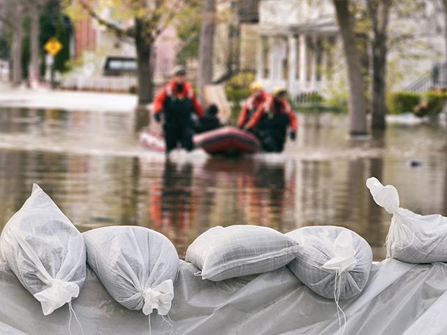rescue effort during flood