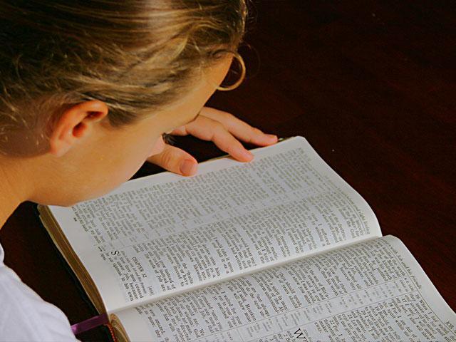 Girl Reading Bible AS