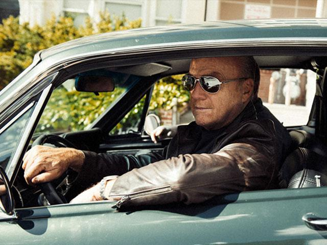 Pastor Greg Laurie driving his Bullitt replica, Steve McQueen movie, cr: Josh Del
