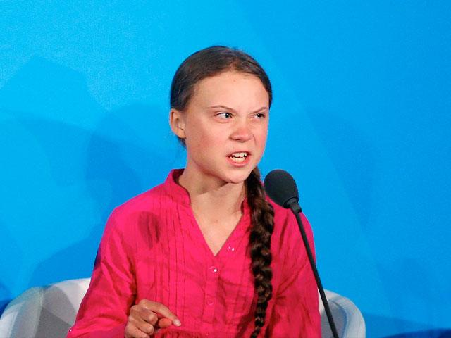 Environmental activist Greta Thunberg, of Sweden, addresses the Climate Action Summit in the United Nations General Assembly, at U.N. headquarters, Sept. 23, 2019. (AP Photo/Jason DeCrow)