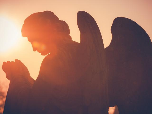 peaceful angel praying