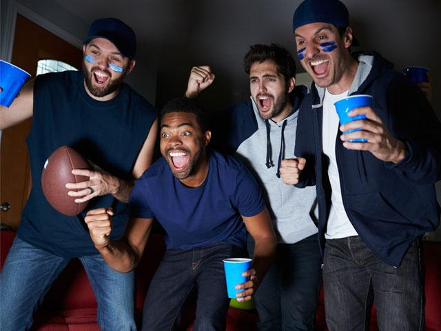Guys watching the Super Bowl