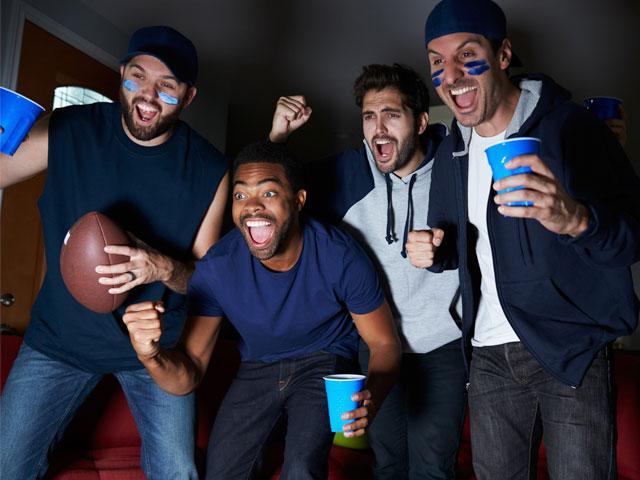 Guys watching the Super Bowl