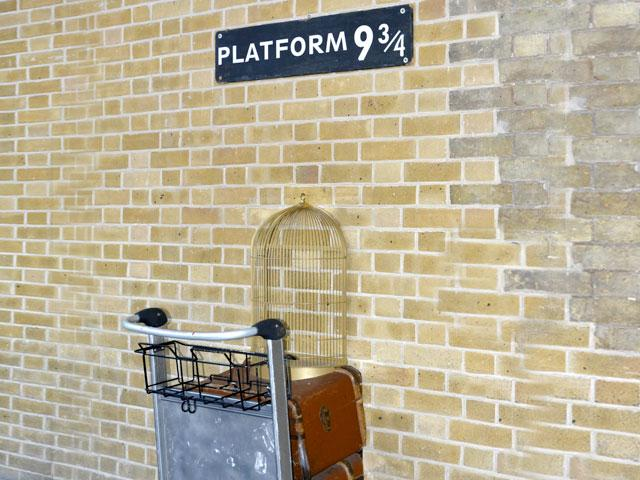Harry Potter, 9 3/4 train platform