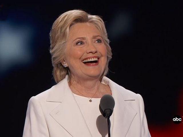 Hillary Clinton at the DNC