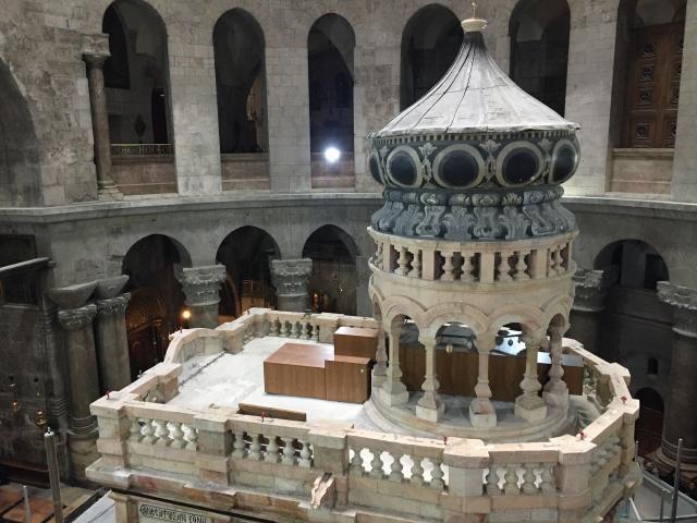 Restoration work completed on Jesus' tomb site in Jerusalem