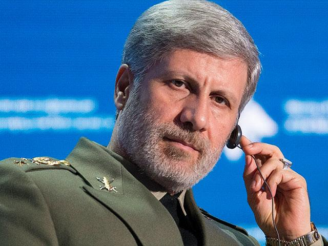 Iranian Defense Minister Amir Hatami listens during the Conference on International Security in Moscow, Russia, Wednesday, April 4, 2018. (AP Photo/Alexander Zemlianichenko)