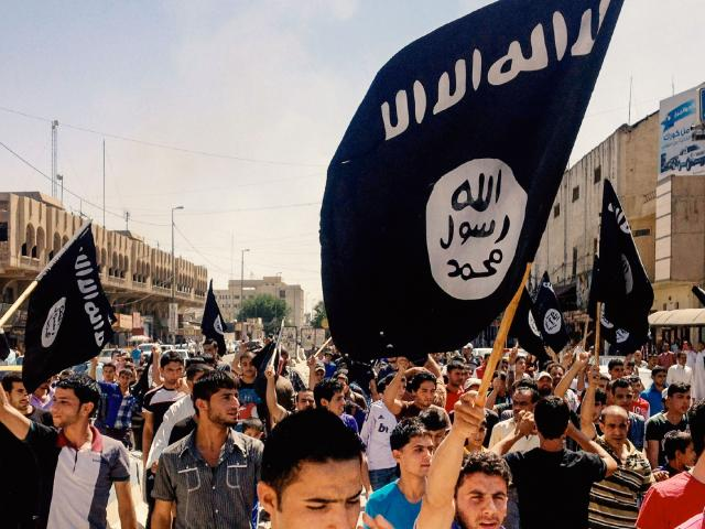 ISIS demonstration, AP image