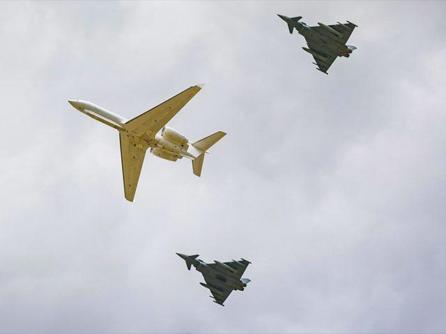 Israeli jets enter Israeli airspace and fly over Dachau - Image Credit: IDF