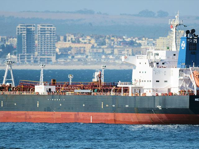 This Jan. 2, 2016 photo shows the Liberian-flagged oil tanker Mercer Street off Cape Town, South Africa. The oil tanker linked to an Israeli billionaire reportedly came under attack off the coast of Oman in the Arabian Sea, authorities said Friday, July 3