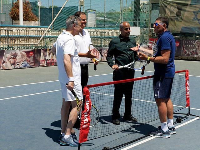 Rahat Mayor at Israel Tennis and Education Centers on Arab-Jewish Leadership Training Day, Photo Credit: CBN News