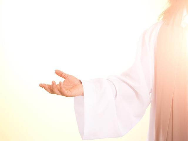 jesus offers his hand