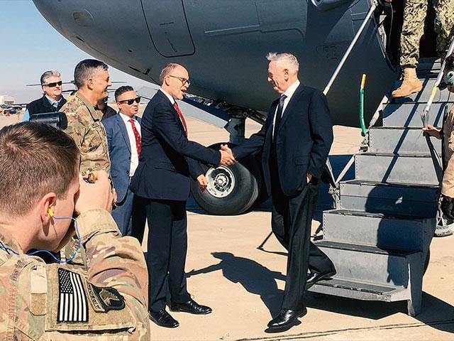 Jim Mattis Baghdad AP