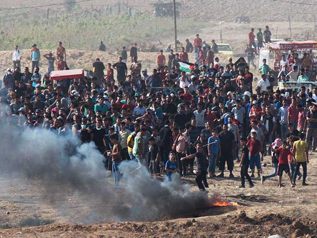 Riots at Israel's border with the Gaza Strip, Photo, IDF