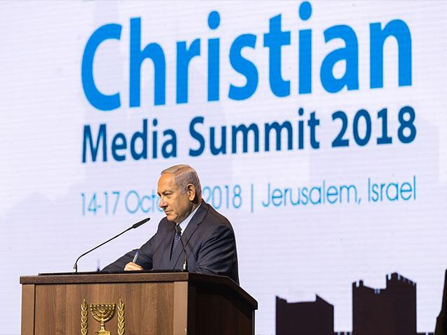 Christian Media Summit, Israeli Prime Minister Benjamin Netanyahu. Photo: GPO