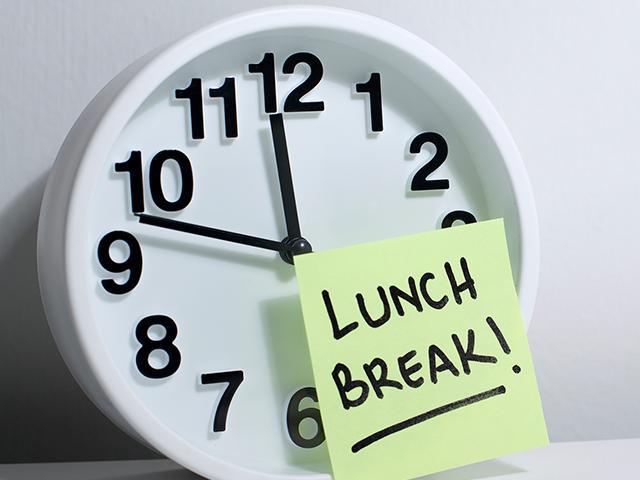 lunch break sign