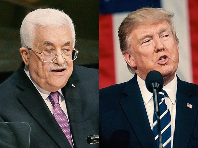 Mahmoud Abbas Donald Trump AP