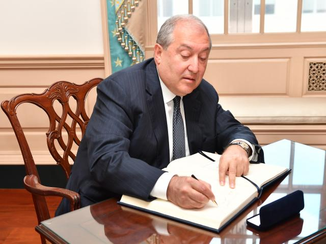 President Armen Sarkissian of Armenia