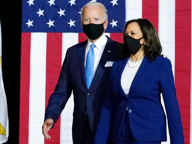Democratic presidential candidate former Vice President Joe Biden and his running mate Sen. Kamala Harris, D-CA (AP Photo/Carolyn Kaster)