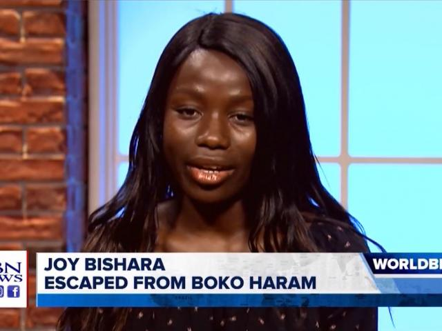 Joy Bishara, a former Boko Haram captive, spoke with CBN News about her abduction and escape from the Nigerian terrorist group. (Image credit: CBN News)