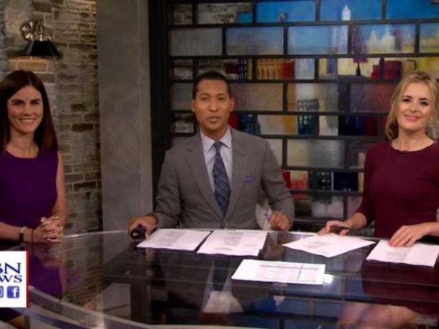 Caitlin Conant, left, is the political director for CBS News. (Image credit: CBN News)