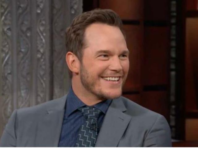 "Actor Christ Pratt. (Image credit: ""The Late Show with Stephen Colbert""/YouTube)"