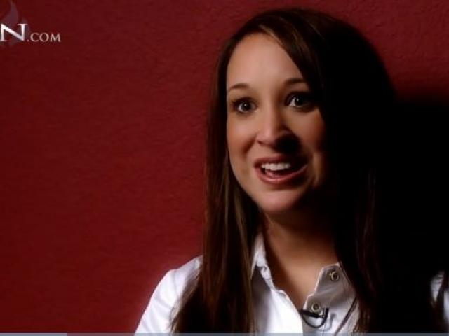 Abortion survivor Claire Culwell. (Image courtesy: The 700 Club/CBN.com)