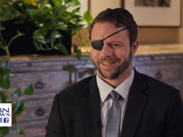 US Rep. Dan Crenshaw (R-Texas) (Image credit: CBN News)