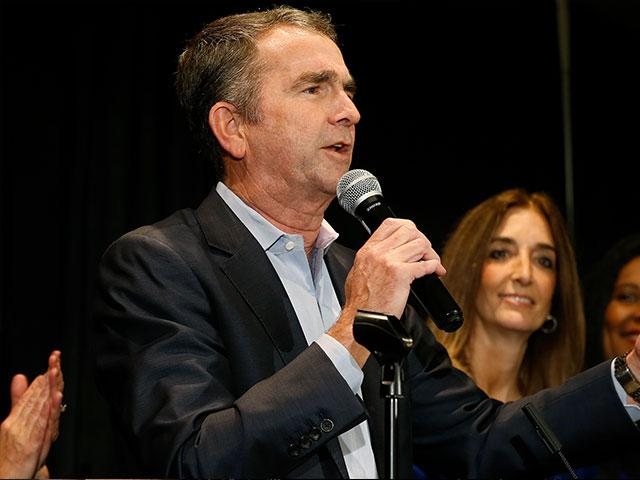 VA Gov. Ralph Northam says the state has been turned blue (AP Photo)