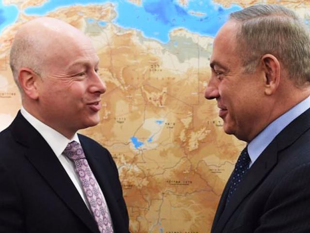 Jason Greenblatt and Prime Minister Benjamin Netanyahu, Photo, Facebook