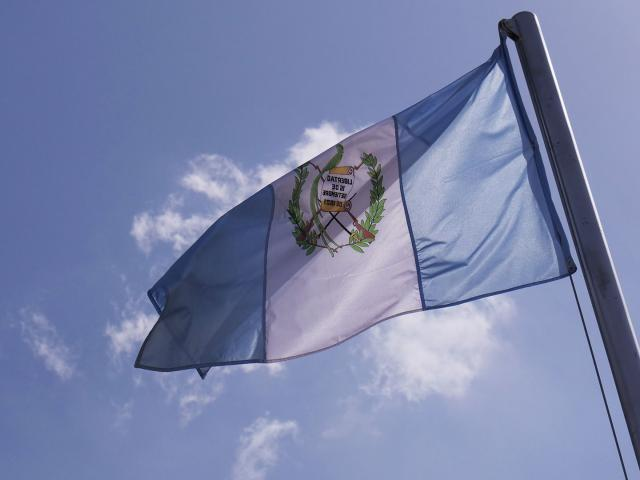 Guatemalan Flag, Photo, CBN News, Jonathan Goff