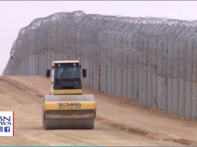 Israel's current barrier on its southern border. (Image credit: CBN News Jerusalem Bureau)