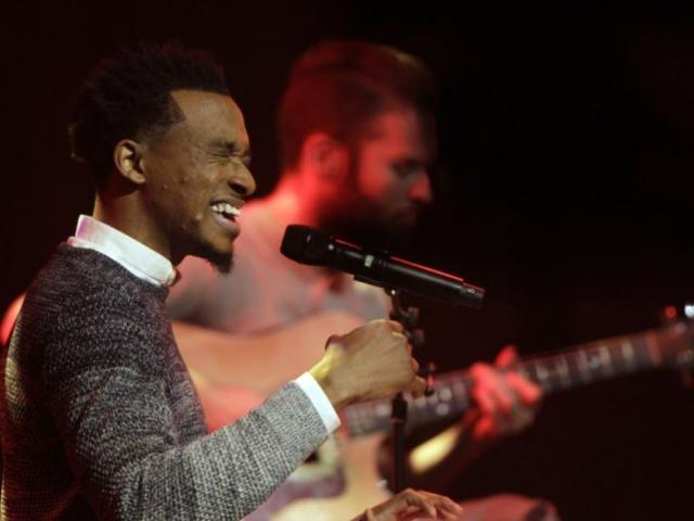 In this Oct. 11, 2016 file photo, Jonathan McReynolds performs at the 47th Annual GMA Dove Awards at Lipscomb University in Nashville, Tenn. (Photo by Wade Payne/Invision/AP, File)