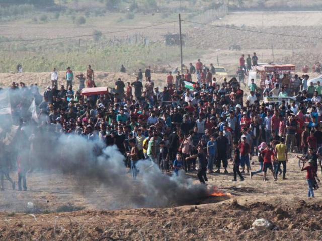 gaza border riots