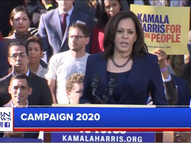 Kamala Harris. (Screenshot credit: CBN News)